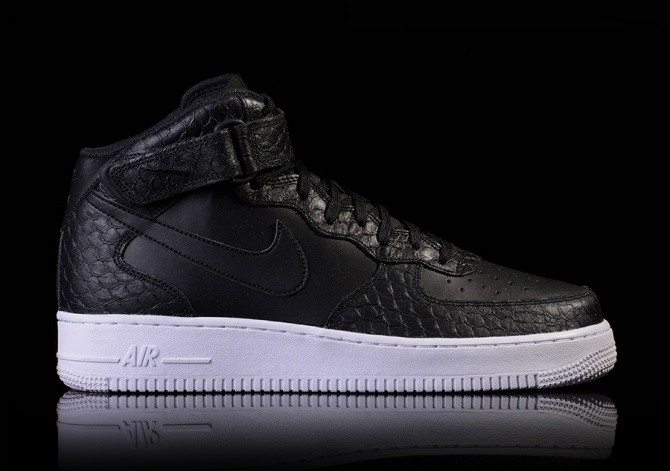 NIKE AIR FORCE 1 MID '07 LV8 BLACKBLACK WHITE price 119.00