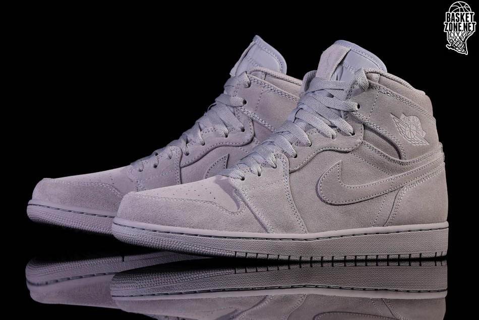 Retro Air Grey Jordan Wolf Price High Suede Nike 1 rCQdtsh