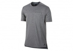 NIKE AIR JORDAN 23 LUX CLASSIC POCKET TEE CARBON HEATHER