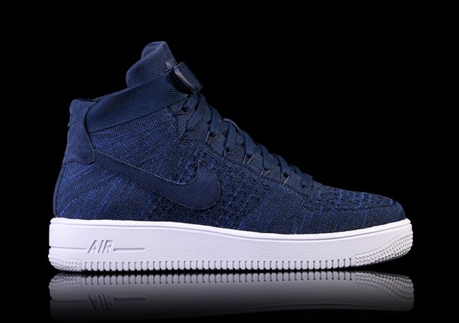 the latest ff687 5f181 NIKE AIR FORCE 1 ULTRA FLYKNIT MID COLLEGE NAVY