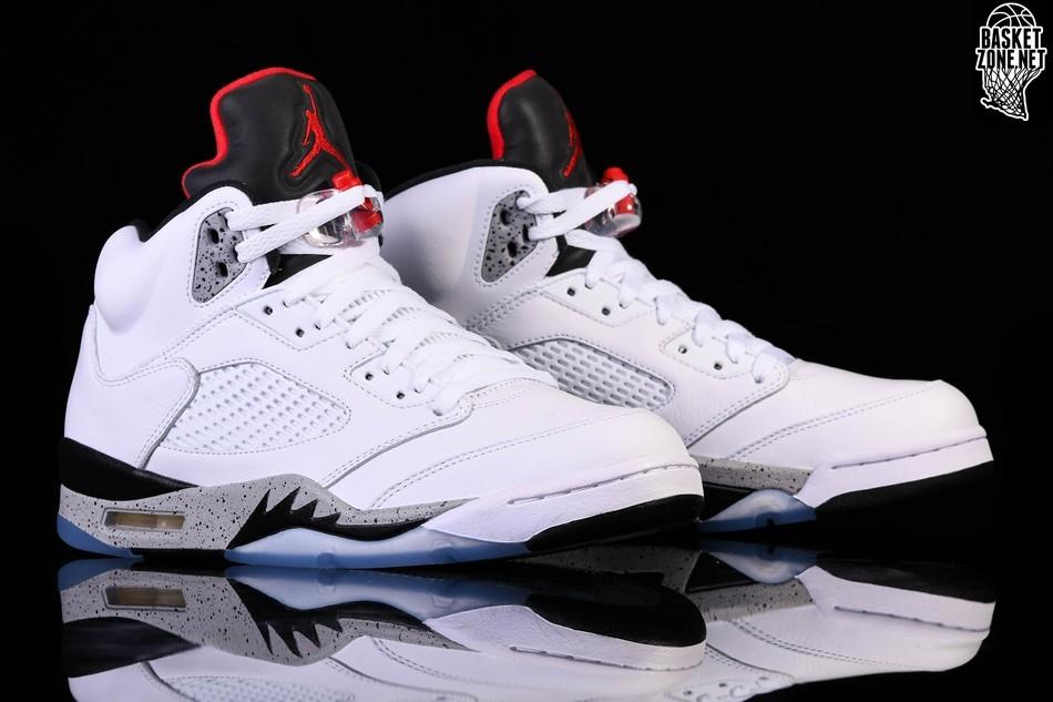 buty sportowe największa zniżka niska cena NIKE AIR JORDAN 5 RETRO WHITE CEMENT price 205.00fr ...