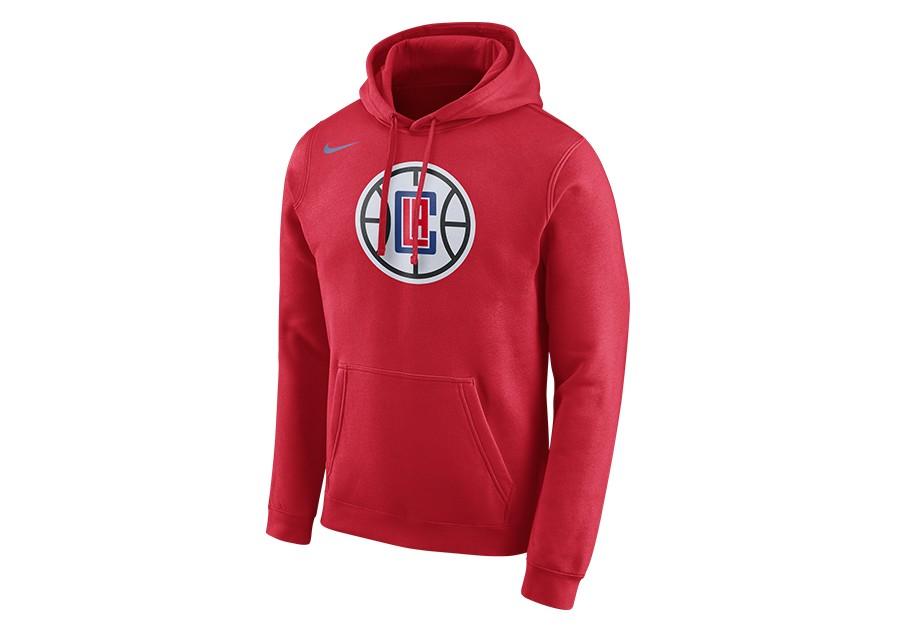 c87eab221279 NIKE NBA LOS ANGELES CLIPPERS HOODIE CLUB LOGO UNIVERSITY RED pour ...