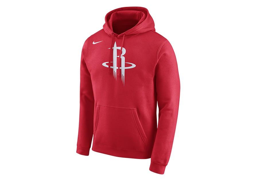 nike double swoosh overhead hoodie university red