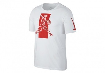 NIKE DRY KYRIE FAMOUS TEE WHITE