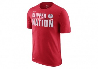 NIKE NBA LOS ANGELES CLIPPERS DRY TEE UNIVERSITY RED