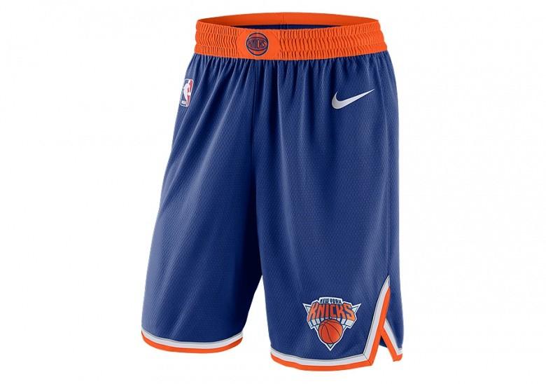 37110bcc718f NIKE NBA NEW YORK KNICKS SWINGMAN SHORTS ROAD RUSH BLUE price €49.00 ...