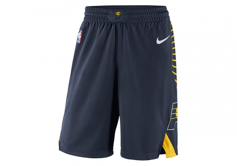 NIKE NBA INDIANA PACERS SWINGMAN SHORTS ROAD COLLEGE NAVY