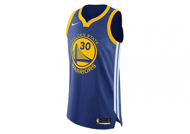 5cd95d55f51c NIKE NBA GOLDEN STATE WARRIORS STEPHEN CURRY AUTHENTIC JERSEY ROAD RUSH BLUE