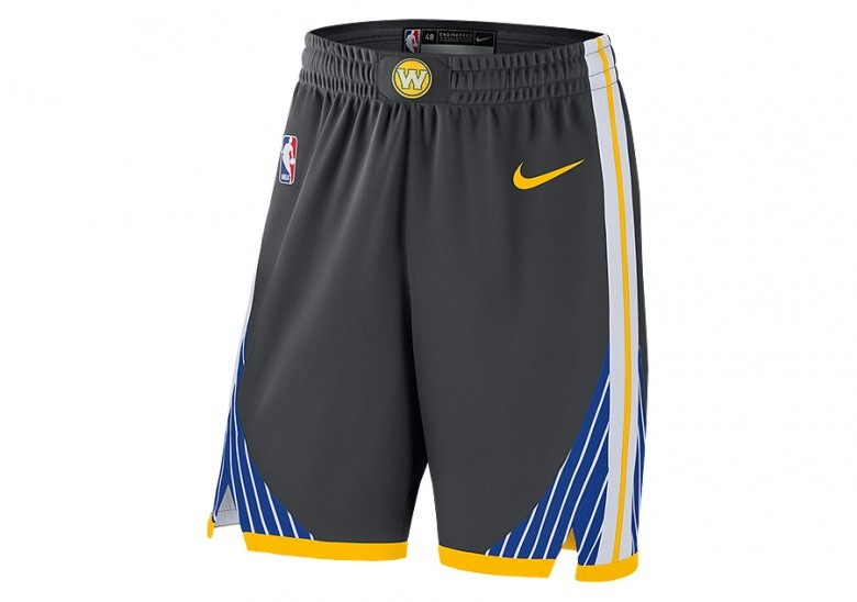 7073747f649ef NIKE NBA GOLDEN STATE WARRIORS GSW AUTHENTIC SHORTS ANTHRACITE price €65.00
