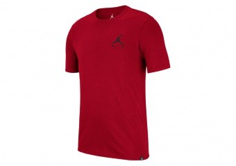 NIKE AIR JORDAN SPORTSWEAR JUMPMAN AIR EMBROIDERED TEE GYM RED