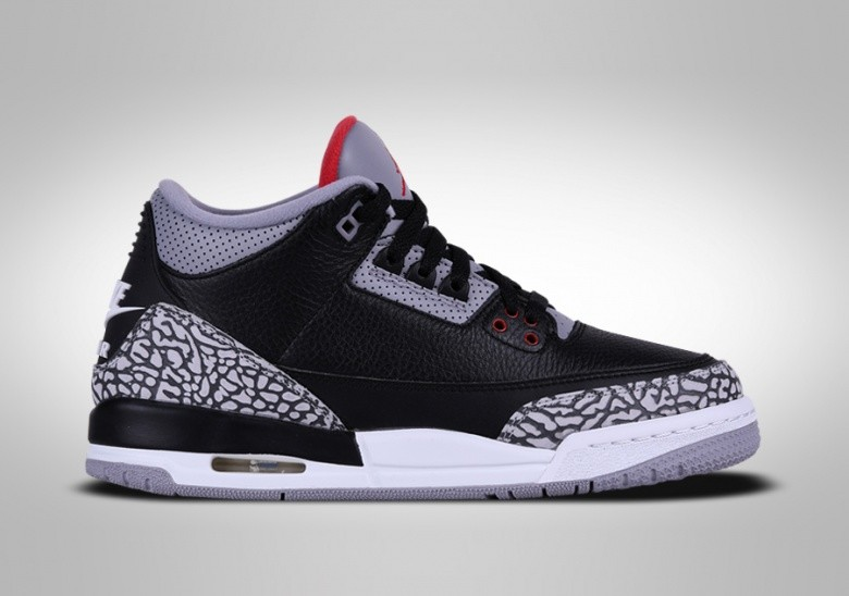 NIKE AIR JORDAN 3 RETRO BLACK CEMENT BG