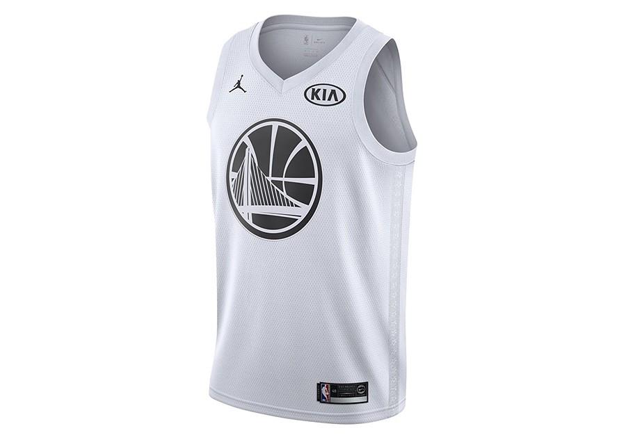 db3dd557 NIKE AIR JORDAN NBA STEPHEN CURRY ALL-STAR 2018 SWINGMAN JERSEY WHITE