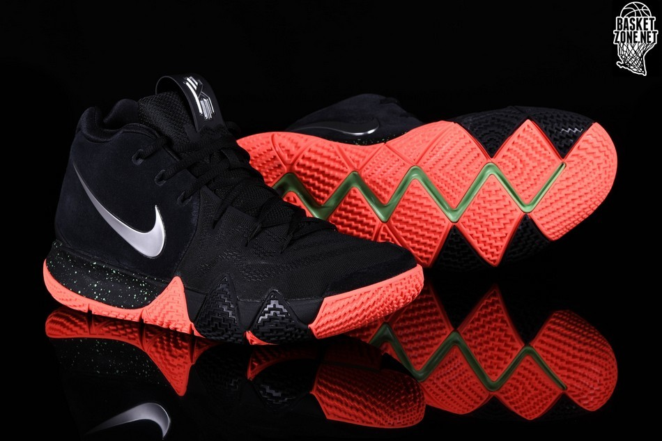 kyrie 4 black and red
