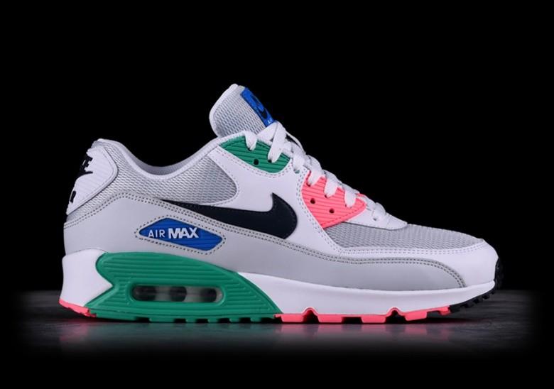 100% True Womens Air Max 90 White Grey Light Green [Nike Air