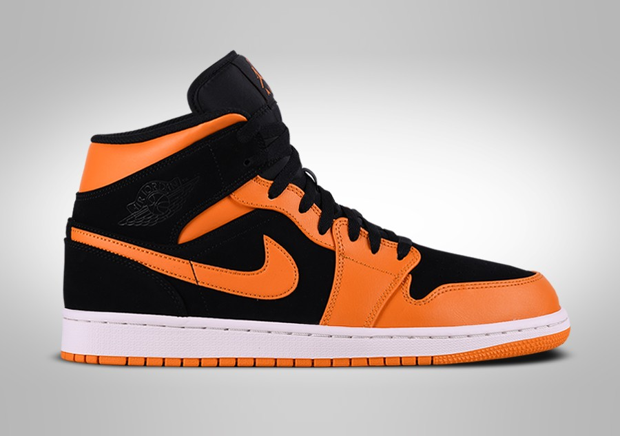 best service 3cac7 cd8c8 NIKE AIR JORDAN 1 RETRO MID BLACK ORANGE PEEL pour €102,50 ...