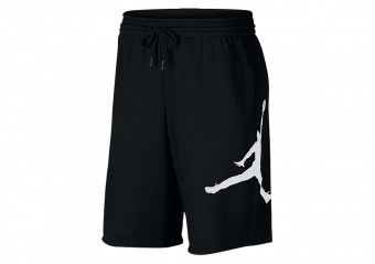 NIKE AIR JORDAN JUMPMAN FLEECE SHORTS BLACK