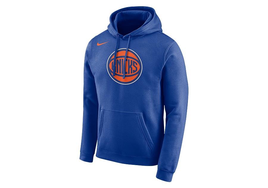 421a3106 NIKE NBA NEW YORK KNICKS LOGO HOODIE RUSH BLUE price €62.50   Basketzone.net