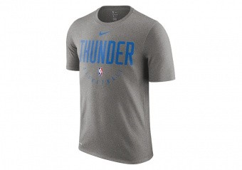 NIKE NBA OKLAHOMA CITY THUNDER DRY TEE DARK GREY HEATHER