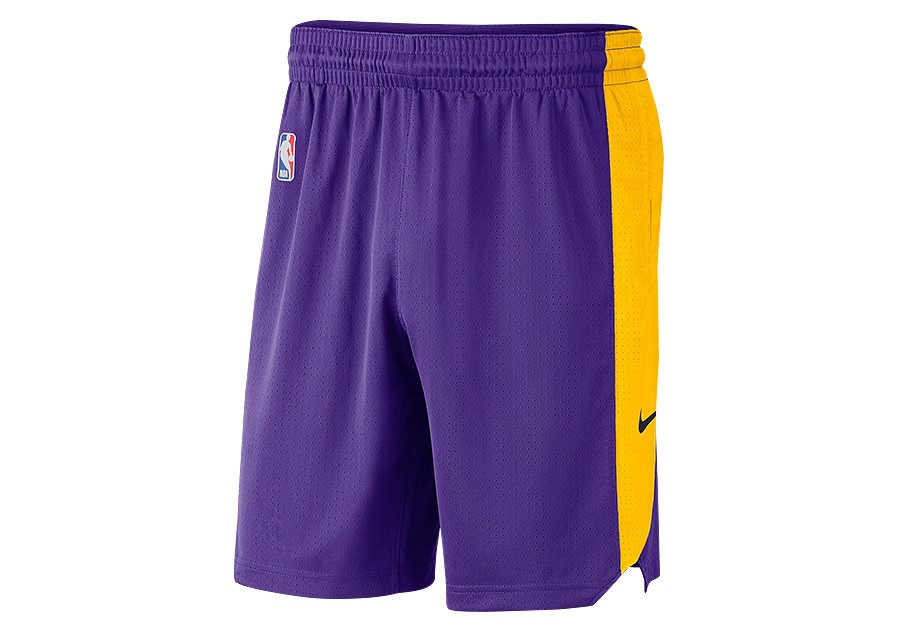 competitive price 1b358 531e1 NIKE NBA LOS ANGELES LAKERS PRACTICE SHORTS FIELD PURPLE ...