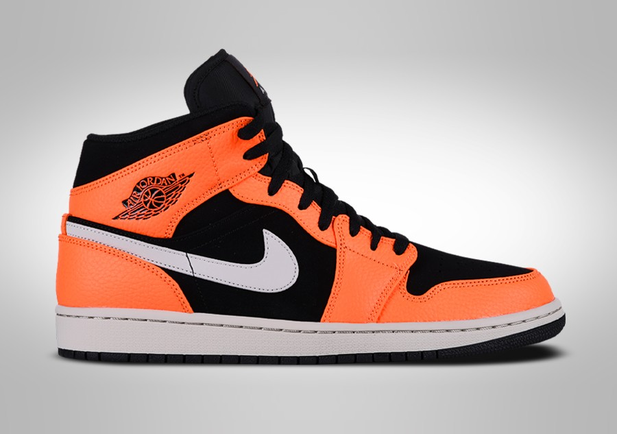 best sneakers c2d1b 0f51e NIKE AIR JORDAN 1 RETRO MID BLACK ORANGE