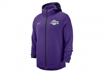 NIKE NBA LOS ANGELES LAKERS DRY SHOWTIME HOODIE FIELD PURPLE