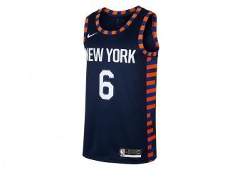 NIKE NBA NEW YORK KNICKS KRISTAPS PORZINGIS SWINGMAN JERSEY COLLEGE NAVY