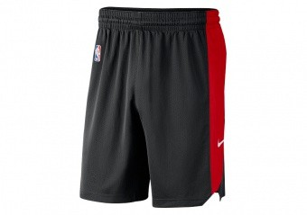 NIKE NBA CHICAGO BULLS PRACTICE SHORTS BLACK