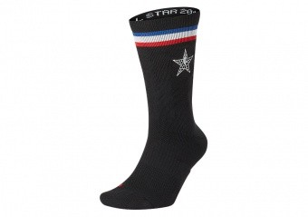 NIKE NBA ALL STAR ELITE CREW SOCKS BLACK