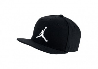 NIKE AIR JORDAN PRO JUMPMAN SNAPBACK BLACK WHITE
