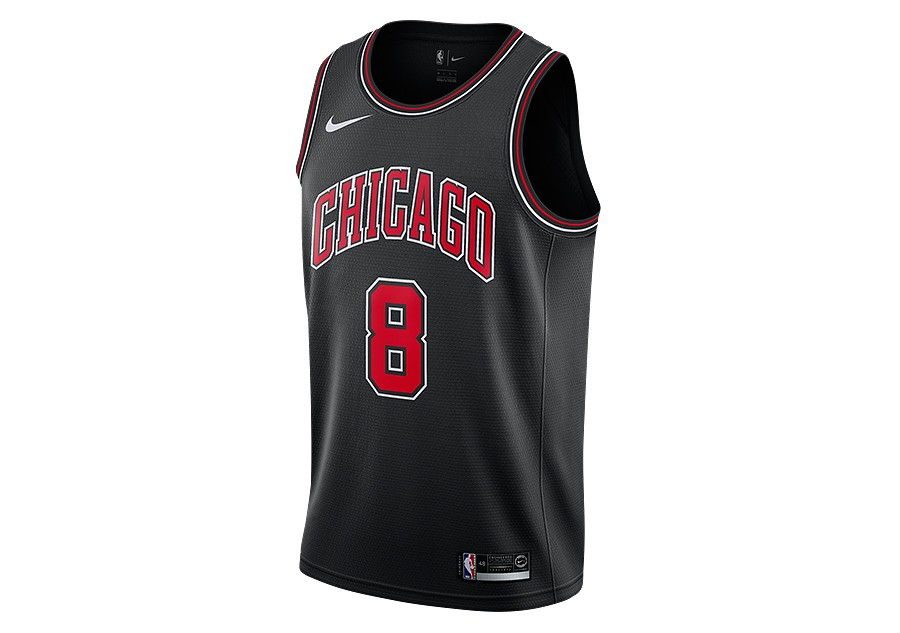 8a44014d2 NIKE NBA CHICAGO BULLS ZACH LAVINE STATEMENT EDITION SWINGMAN JERSEY BLACK  per €77