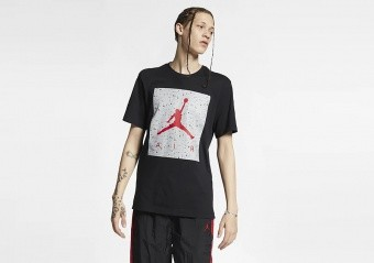 NIKE AIR JORDAN POOLSIDE TEE BLACK