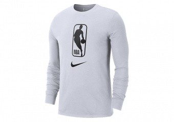 NIKE NBA TEAM 31 DRY LONG-SLEEVE TEE WHITE