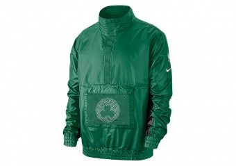 NIKE NBA BOSTON CELTICS LIGHTWEIGHT COURTSIDE JACKET CLOVER