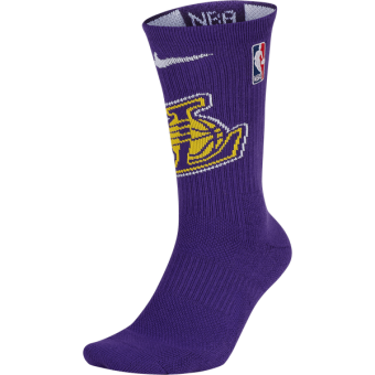 NIKE NBA LOS ANGELES LAKERS ELITE CREW SOCKS FIELD