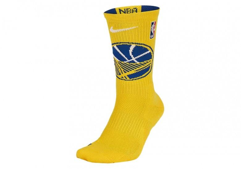 NIKE NBA GOLDEN STATE WARRIORS ELITE CREW SOCKS AMARILLO