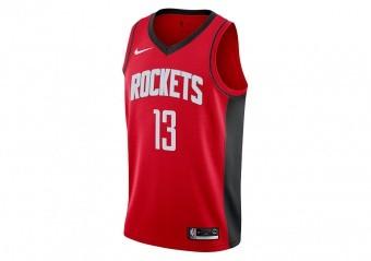 NIKE NBA HOUSTON ROCKETS JAMES HARDEN SWINGMAN ROAD JERSEY UNIVERSITY RED
