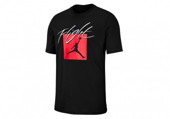NIKE AIR JORDAN JUMPMAN FLIGHT CREW TEE BLACK