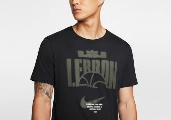NIKE LEBRON DRI-FIT BASKETBALL TEE BLACK