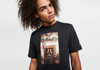 NIKE AIR JORDAN MIKE AIR TEE BLACK