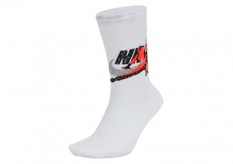 NIKE AIR JORDAN LEGACY JUMPMAN CLASSICS SOCKS WHITE