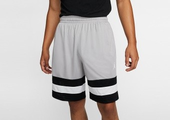 NIKE AIR JORDAN JUMPMAN BASKETBALL SHORTS ATMOSPHERE GREY