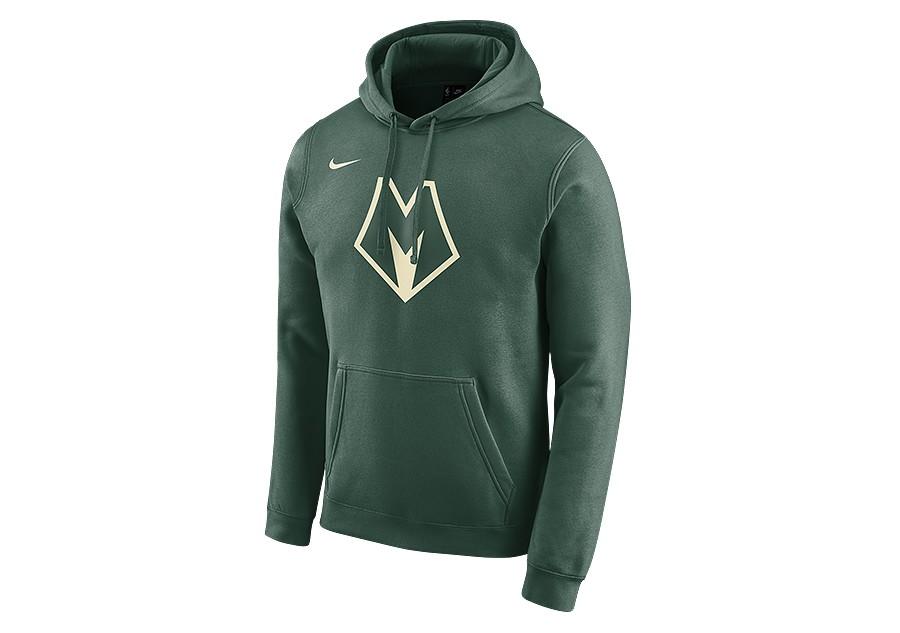 nike nba milwaukee bucks city edition logo hoodie fir