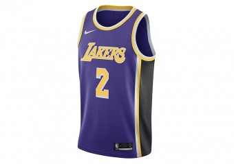 NIKE NBA LOS ANGELES LAKERS LONZO BALL SWINGMAN JERSEY FIELD PURPLE