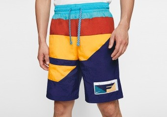 NIKE FLIGHT SHORTS BLUE VOID