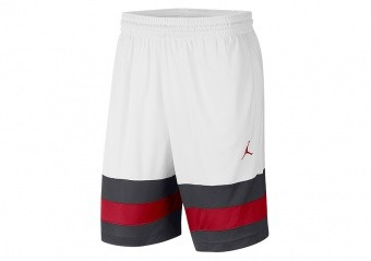 NIKE AIR JORDAN JUMPMAN SHORTS WHITE