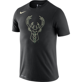 NIKE NBA MILWAUKEE BUCKS LOGO DRI-FIT TEE