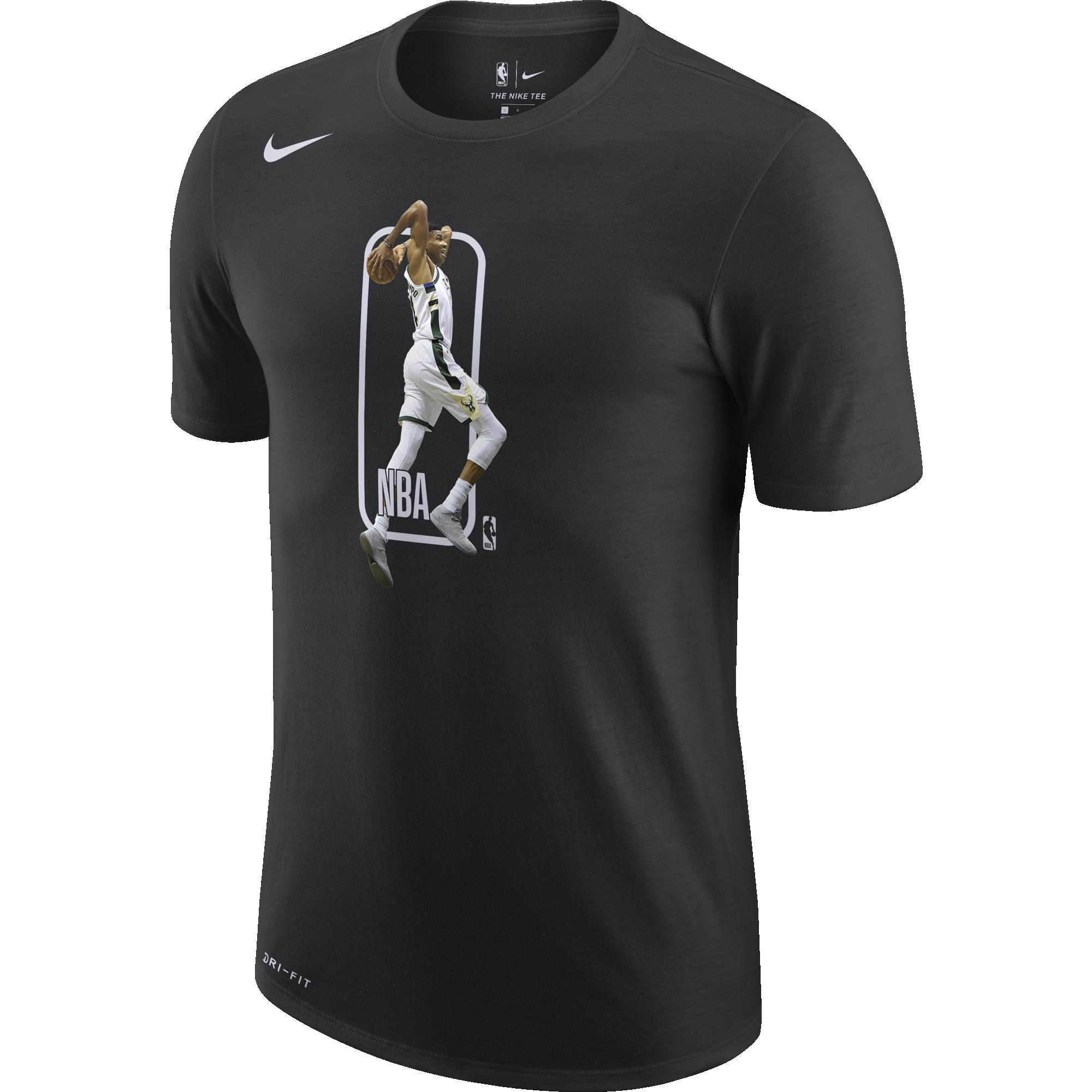 NIKE NBA MILWAUKEE BUCKS PLAYER LOGO DRI-FIT TEE | pl ...