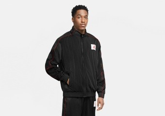NIKE AIR JORDAN FLIGHT WARMUP JACKET BLACK