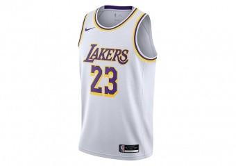 NIKE NBA LOS ANGELES LAKERS LEBRON JAMES ASSOCIATION EDITION SWINGMAN JERSEY WHITE