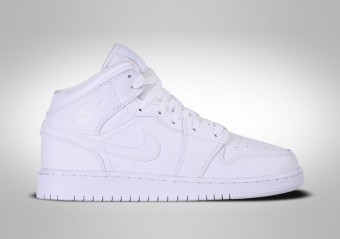 NIKE AIR JORDAN 1 RETRO MID GS TRIPLE WHITE